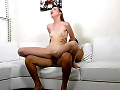First time fucking with a huge hard cock