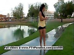 Alexa Loren tender wet and naked outdoor