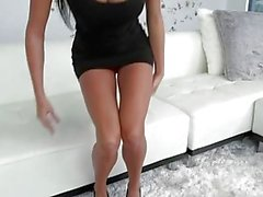 Big Naturals - Anissa shows off her big tits