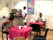Young Ashley gets pumped and jizzed by classmate in parody