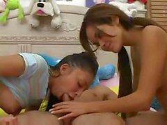 Two Cute Teens Blowjob