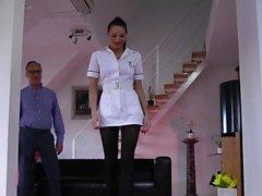 British nurse gets facial