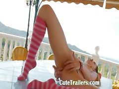 Beautiful Ivana schoolmate goes wet