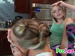Lesbian Worshipping Feet In The Kitchen