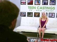 Amateur beauty hardfucked at brutal casting