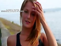 Beatiful teens showing her body on beach