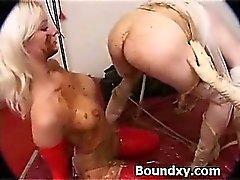 Spandex Fetish Slut Caned Wildly