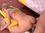 Naked teen hotty gets fucked sideways and doggy fashion