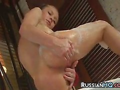Russian Teen In A Bath Tub Masturbating