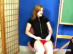 School Girl Shoowing Wet Panty Tease