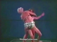 Wild Old Young Female Wrestling in Bikinis (Vintage)
