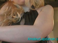 Young czech babe lapdancing for a horny dude