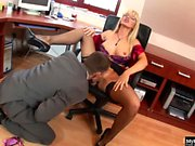 Nataly Dangelo has a taste for cock that never goes...
