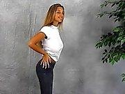 Big Tits girl wet T-shirt braless bouncing