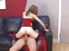 Redhead loves cock.