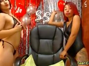3 lesbian teens have fun together on the webcam