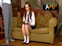 English Schoolgirl gets spanked