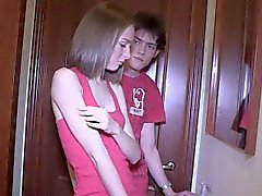 Dirt poor guy allows kinky friend to penetrate his exgf for