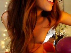 Hot teen female toys nearly a hot dildo