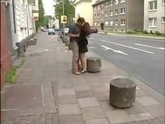 german teen fucks in public