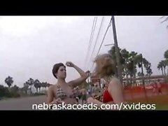 Spring Break beach keg party turns into some hot sexual fun