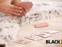 BLACK4K. Sweet dollface forgets about cards and spreads...