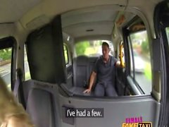 FEMALEFAKETAXI SHOCKED FIREMANS HOSE GETS DRAINED Full movie: bit