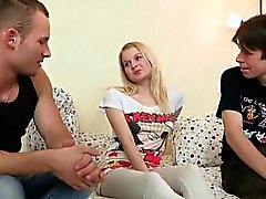 Fella assists with hymen physical and riding of virgin teeni