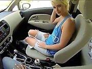 Tight blonde teen slut Dani Desire fucked in public for cash