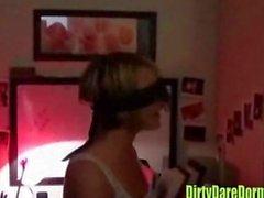 Girls dance in dorm room