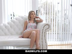 BadMILFS - Hot Teen Gets Fucked by Stepmom