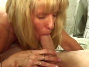 Hard Bareback Sex - Young Guy with Mature Woman