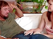 Luscious hottie babe Alison Rey suckin a hard pole