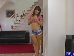 UK amateur beauty banged in POV by old man
