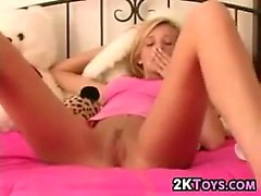 Blonde Teen Masturbating