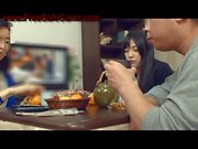naughty japanese teen sucks cock under the table