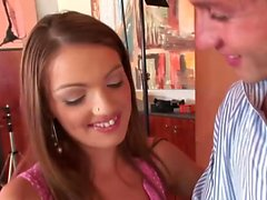 Kate Pearl gags on her boyfriend's dick