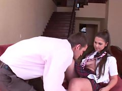 Amazing schoolgirl likes to get drilled