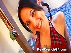 Sexy goth french girl fucked hard part1