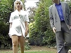 French Nurse Fucking In The Backyard by TROC