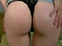 Mandy Lou is a blonde who gives a handjob