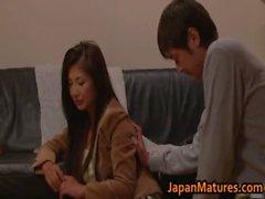 Chisa Kirishima Asian MILF gives amazing