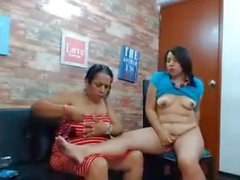 mother and daughter duo stripping on cam