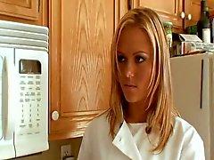 Blonde teen screwed & cummed