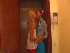 Love and latvian licking between teens