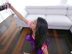 Veronica Rodriguez sizzling hot blowjob