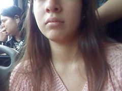 rich college girl in bus morrita