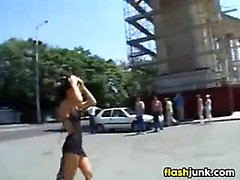 European Whore Fucking Outside In Public
