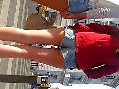 spy sexy girls ass shorts jeans romanian