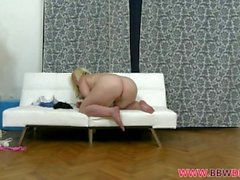 Blonde Bbw Selena Masturbates With Toy